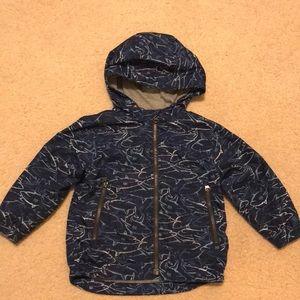 Gap rain jacket shark pattern
